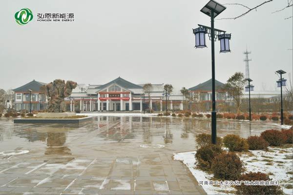 河南商丘太平文化廣場太陽能庭院燈