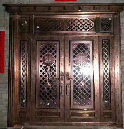 石家庄古铜色不锈钢门