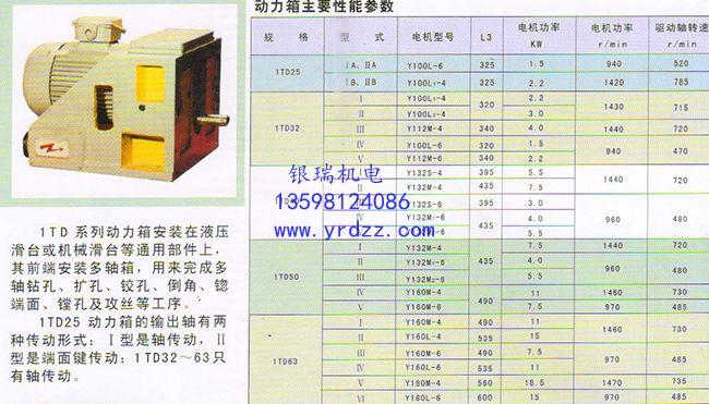 1TD系列动力箱