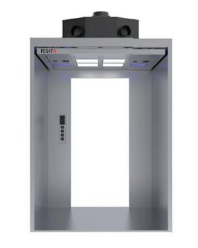 电梯净化消毒防护一体机  轿厢净化消毒防护设备