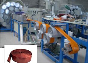 PVC高强度涂塑水带生产机械