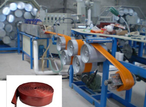 PVC特制涂塑水带生产机械