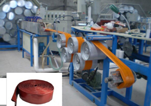PVC高强度涂塑水带生产线