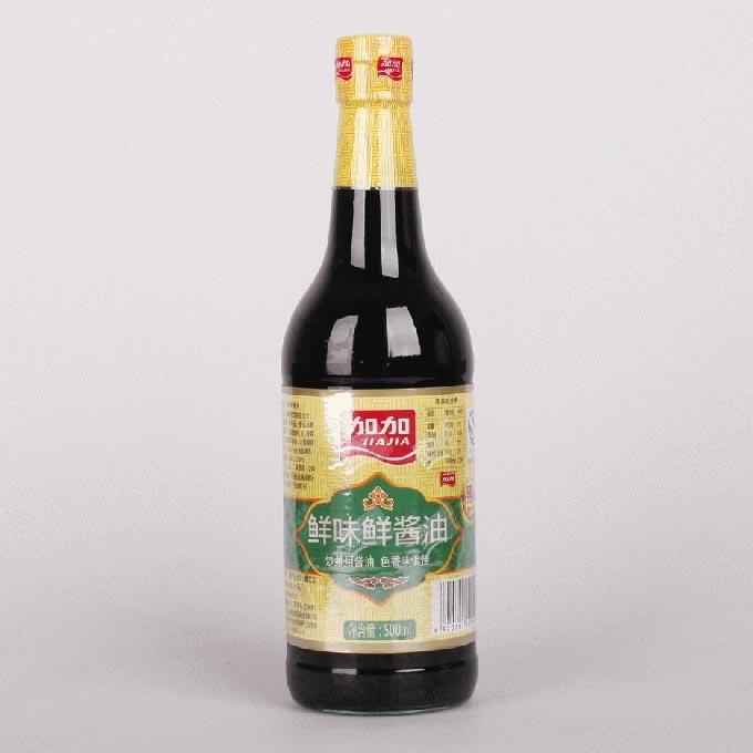 加加鲜味鲜酱油500ml