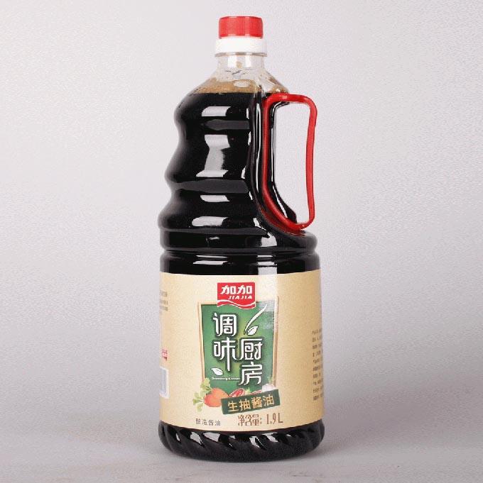 加加调味厨房生抽酱油1.9L