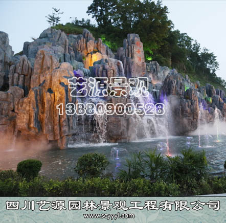 成都喷泉假山景观设计