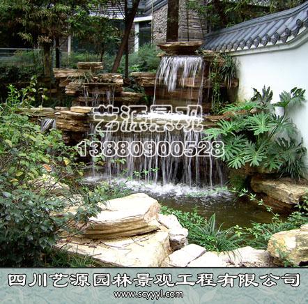四川假山水池施工