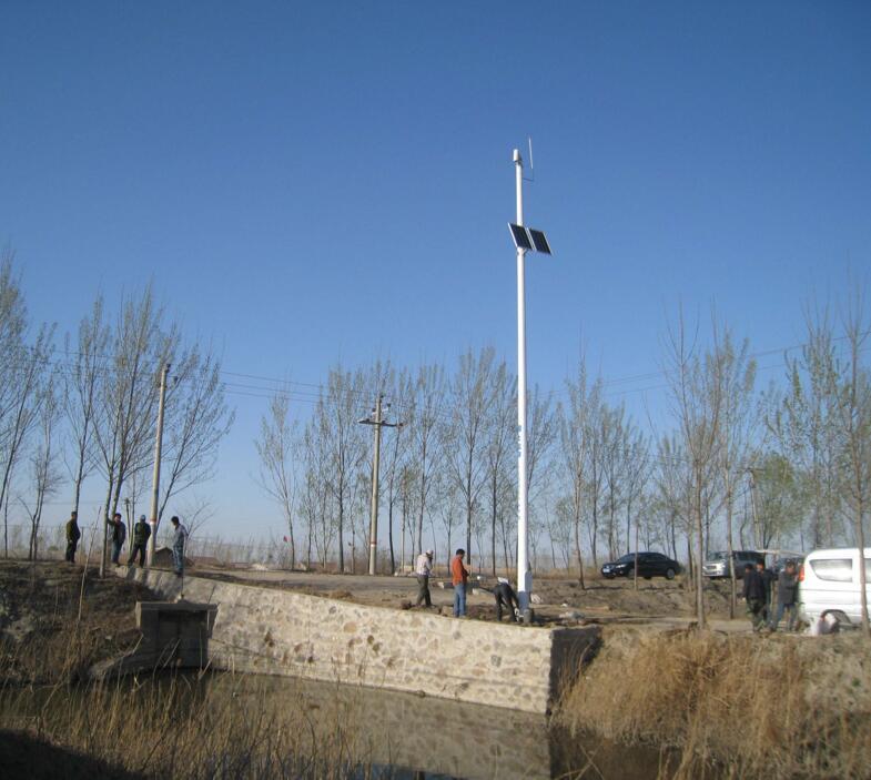 太阳能供电无线传输现场