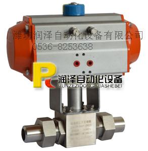 气动高压焊接球阀