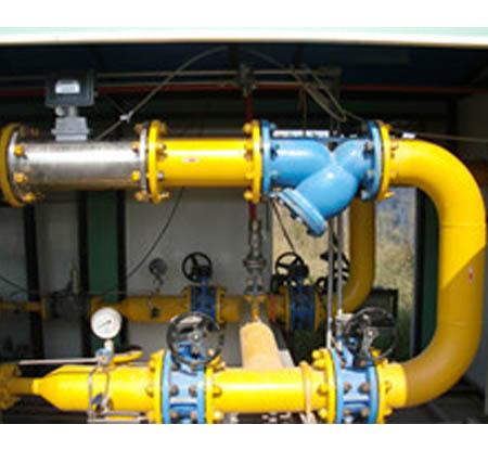 气体涡轮流量计现场图片