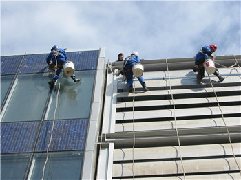 郑州高空玻璃幕墙清洗