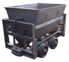 侧翻式矿车