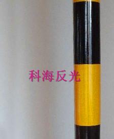 双色电信膜-20cm间距-3黄2黑竖条纹