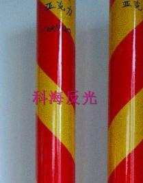 双色膜-黄红10cm间距-斜条纹