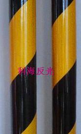 双色膜-黄黑20cm间距-斜条纹