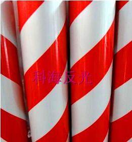 双色膜-10cm 红白斜条纹