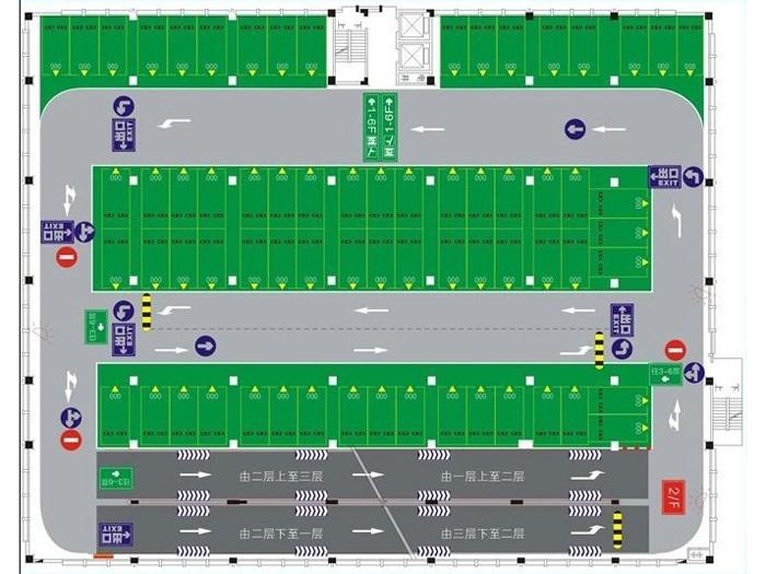 停车场环氧地坪漆效果图