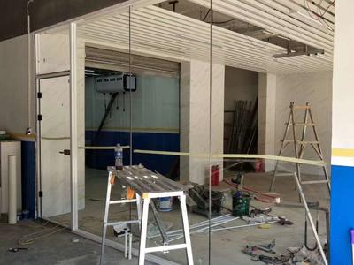 双层玻璃隔断施工