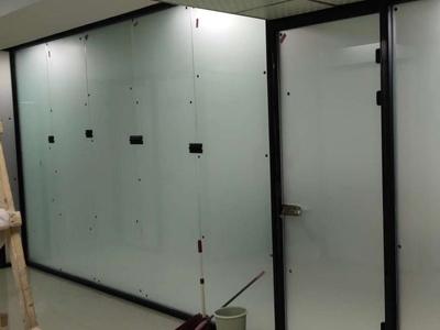 磨砂单层玻璃隔断安装