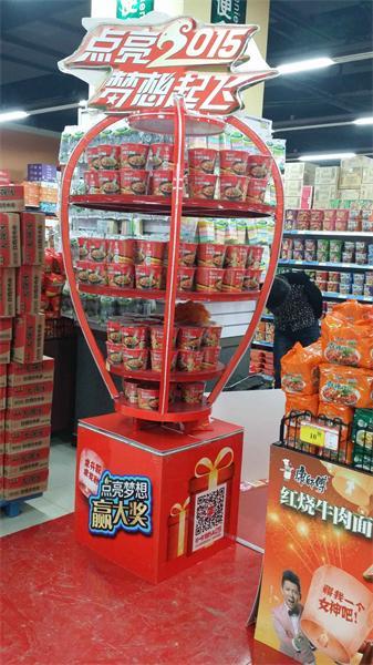 康师傅超市造型堆头设计与制作