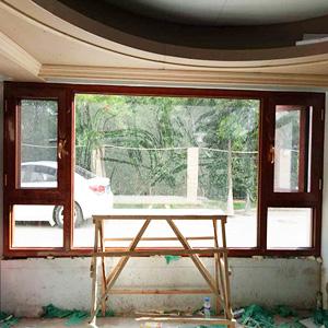 云南金橡木窗纱一体门窗