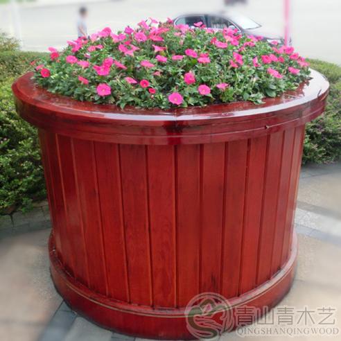 防腐木花箱制作
