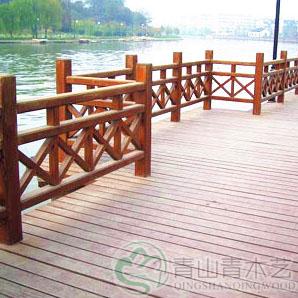 云南防腐木护栏