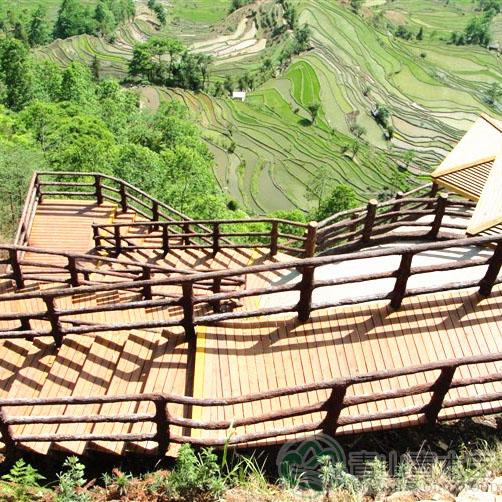 云南防腐木围栏
