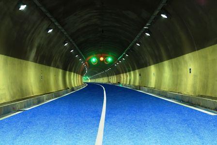 隧道彩色沥青路面