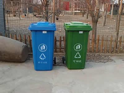 垃圾桶投放現場