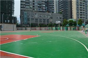 四川硅PU篮球场