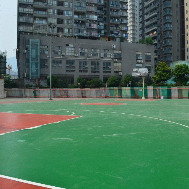成都硅PU篮球场施工