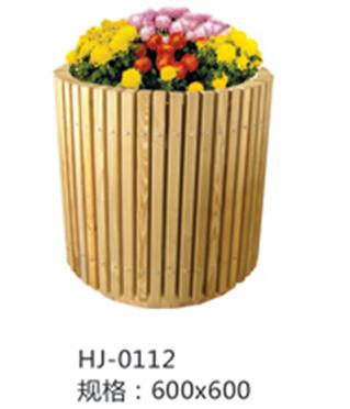 木质圆花盆
