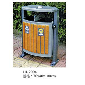 钢木分类垃圾箱