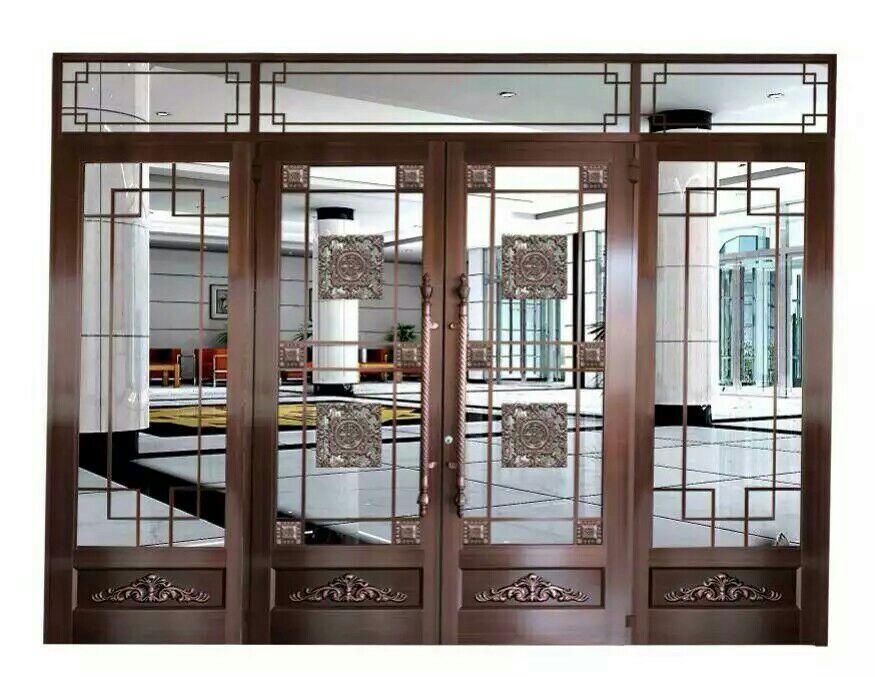 中式仿铜肯德基门安装