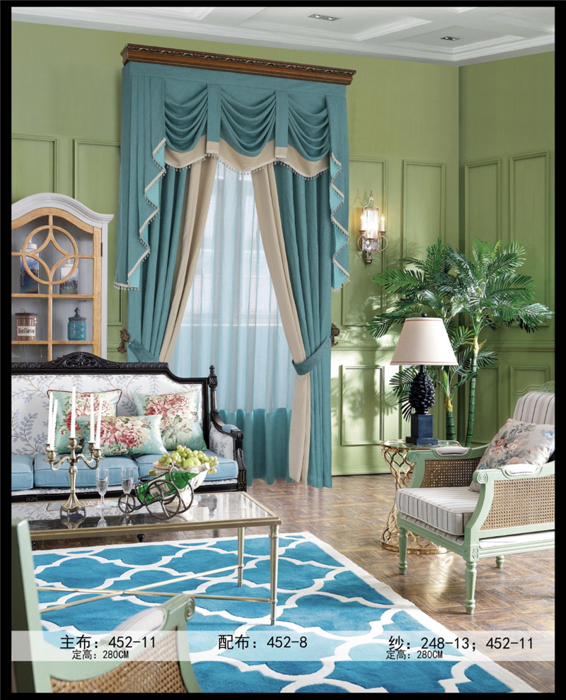 客厅布艺窗帘