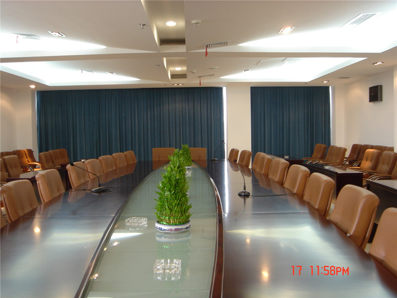 光谷建设会议室丝绒帘