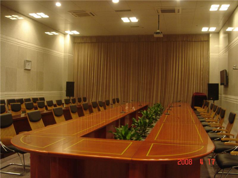 开发区电视电话会议室布艺窗帘