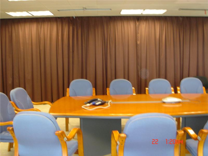 神龙会议室布艺窗帘
