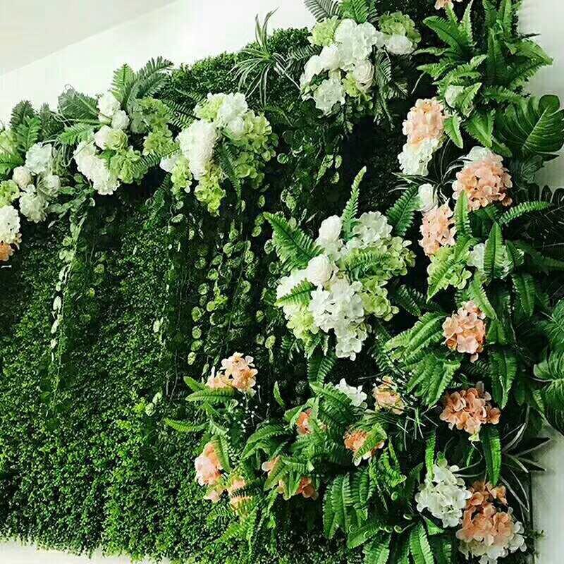 绿植广告背景墙制作