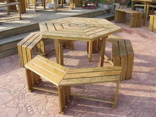 贵阳防腐木桌椅