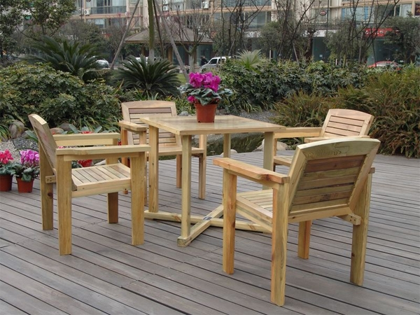 防腐木户外桌椅