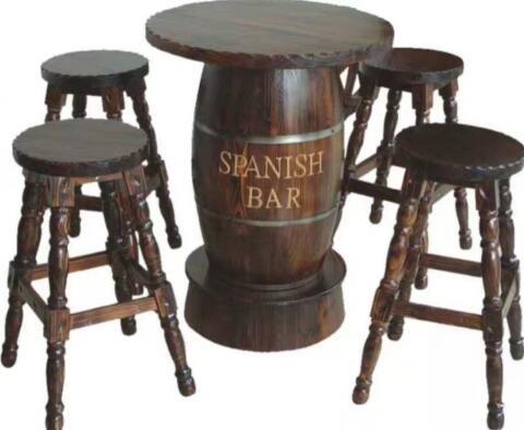防腐木桌椅
