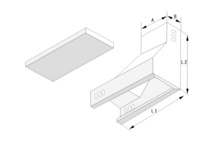 槽式垂直左上彎通