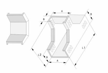 槽式下垂直三通