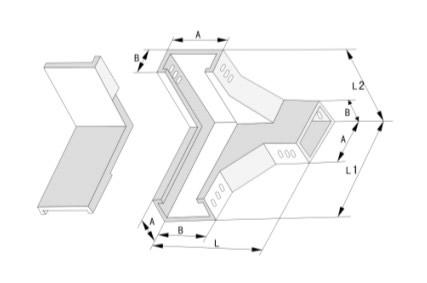 槽式下角垂直三通