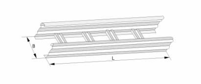 DJ型梯级式大跨距电缆桥架(A型)