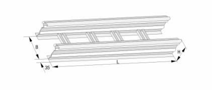 DJ型梯级式大跨距电缆桥架(B型)