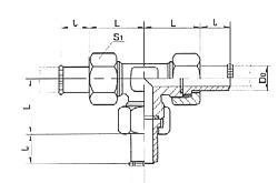焊接式四通管接头