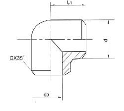 直角焊接接管